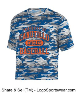 Blue/Orange Camo Design Zoom