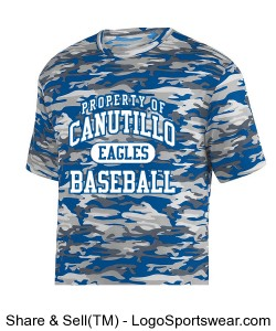 BLUE/WHITE CAMO SHIRT Design Zoom